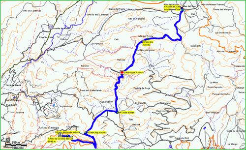 Grup de muntanya detalle ruta for Como llegar al ministerio del interior